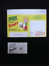 SQUIRT SODA STORE SHELF DISPLAY FOR FREE REFRIGERATOR MAGNET W/COUPON PAD