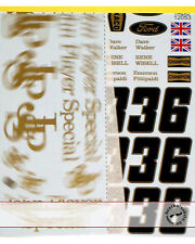 1972 FILL IN SPONSOR DECAL for TAMIYA 1/12 LOTUS 72D FITTIPALDI WALKER WISELL
