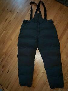 Cabelas Premier Northern Goosedown bibs pants mens 3XL Tall  Green black large
