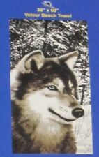 New Large Winter Wolf Snowy Photo Bath Beach Pool Cotton Gift Towel Wolves NWT