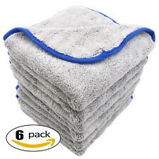 AULLY PARK 800gsm Ultra Thick Plush Microfiber Car Cleaning Towels Buffing Cl...