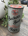 Vintage Flat Top Instructional Beer Can Becker's Best Bottom Opened Tax Stamp