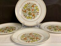 "CORELLE BY CORNING INDIAN SUMMER LUNCHEON PLATES 8 1/2"" EUC"