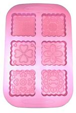 Mixed Patterns SOAP Tart Baking Silicone Candle Mold Chocolate mould candy Cake