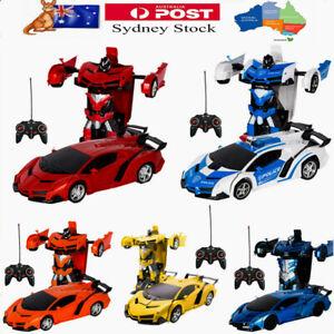 Transformer RC Robot Car Remote Control Kids Boys Toy B-Day Gift AU Stock