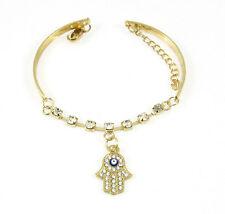 Women Charm Chic Evil Eye Greek Mati Turkish Nazar Beads Crystal Bracelet Bangle