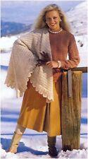 Da Donna Dk Shetland Maglione in pizzo e scialle A Maglia Vintage modello istruzioni
