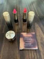 NEW Lancome 2 L'Absolu Rouge Metal Package Lipsticks Caprice Cream + Rose Matte