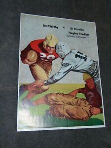 SEPT. 19, 1953 McCLATCHY HIGH SCHOOL VS EL CERRITO FOOTBALL PROGRAM; SACRAMENTO