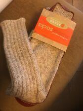 ACORN Unisex Slipper Sock, Grey Ragg Wool, L Brand New