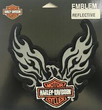 """Harley Davidson Reflective Phoenix B&S 5"""" Motorcycle Vest Sew on Patch EM347062"""