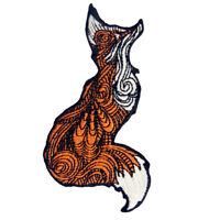 Embroidered Iron Sew On Patches transfers Badges appliques pretty fox Gift