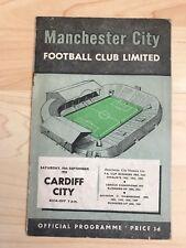 Manchester City v Cardiff City-10th September 1955-Rare