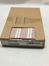 Ikea EKTORP Footstool/Ottoman Slipcover Cover Red/Blue Striped 22891 New!
