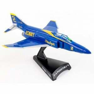 Postage Stamp F-4 Phantom II Blue Angels Diecast Model - Scale 1:155