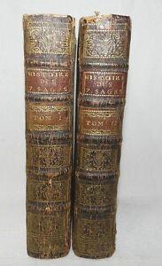 ****** RARE : HISTOIRE DES SEPT SAGES (EN 2 VOLUMES) PAR MR. DE LARREY - 1734