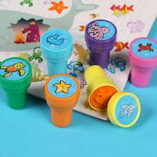 6-Piece Colorful Assorted Plastic Ocean Animal Self Inking Stamps Kids Toy Gift
