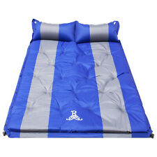 Double Self Inflating Sleeping Mats Mattress Camping Hiking Pad Air Bed W/Pillow