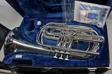Yamaha YBH301M Silver MARCHING Baritone Horn YBH 301 with Hard Case Mouthpiece