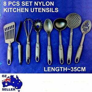 8 PCS non stick black cooking KITCHEN UTENSILS BAKING TOOL NYLON SET