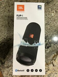 JBL FLIP4 Portable Rechargeable USB Bluetooth Speaker , Waterproof . Black  New