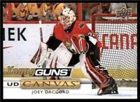 2019-20 UD Series 1 Canvas Young Guns #C109 Joey Daccord - Ottawa Senators