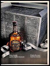 1976 Chivas Regal Scotch Whisky Vintage PRINT AD Bottle Case Silver Ribbon
