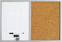 Kombiboard Magnettafel Pinnwand Kork Memoboard Whiteboard Korkboard 40 x 60 cm