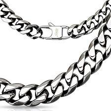 """24"""" Men's Biker Rocker Style Stainless Steel Chain Link Necklace 10 mm"""
