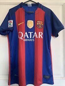 Barcelona Nike Home Shirt 2016/17 Messi 10 With World Champions Badge