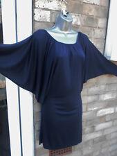 FULL CIRCLE ladies womens navy summer mini dress size M 10