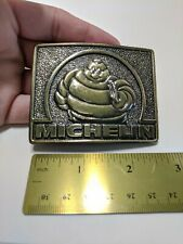 Vintage MICHELIN MAN BELT BUCKLE 70'S TIRE MAN the great american co Chicago