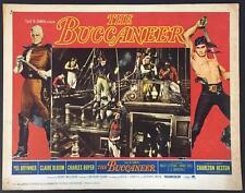 Yul Brynner hanging a man the Buccaneer 1958 # 4 int'l lobby card 1316