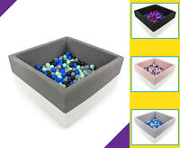 Tweepsy Baby Square Foam Ball Pit with 250 Plastic Balls - BKWE2