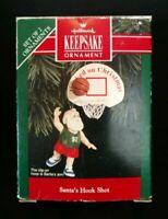 Hallmark Keepsake Ornament Christmas 1992 Santa's Hook Shot T13