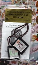 Our Lady of Mt Carmel Brown Wool Scapular -  NEW