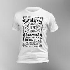 Nitro Circus Label Redneck Motorbike Show Men  T-shirt