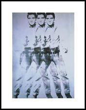 Andy Warhol ELVIS TRIPLE ELVIS poster stampa d'arte nel quadro in alluminio nero 36x28cm