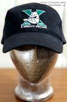 "NHL Anaheim Mighty Ducks VTG ""A Mighty Decade"" Black Strapback Hat Cap 95.5 KLOS"