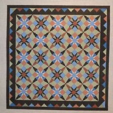 Susan Roberts Dogtooth Stars Quilt Pattern Handpainted Needlepoint Canvas