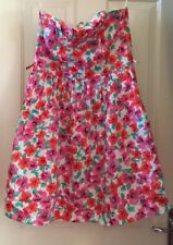 Red Herring Bright Floral Strapless Dress With Netting Size 12