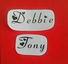 10X Black vinyl sticker names wine glass champagne flute personalised weddings