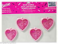 BARBIE Mini  Puzzle MAZE GAMES (4)  ~ Birthday Party Supplies Toys Favors Prizes
