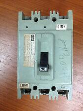 Federal Pacific FPE 20 amp circuit breaker HEF631020