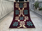 Old Moroccan Kilim Rug Azilal Berber Tribal Wool Handmade Rug Carpet 3.24 x 6.46
