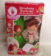 Vintage Strawberry Shortcake Doll With Strawberrykin Berrykin In Box Rare