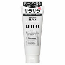 Shiseido Japan Uno Whip Men's Face Wash Black Cleanser 130g