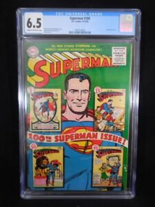 Superman #100    CGC 6.5    Cream to Off White Pages   Anniversary Issue