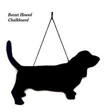 "Basset Hound Gift - Unique 12"" Handmade Dog Breed shaped Chalkboard"