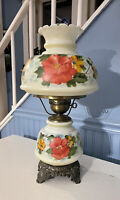 "Vintage Accurate Casting Gone with the Wind lamp 21"" Floral Bright Cheery EUC"